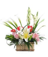 Arrangement of mixed flower in Basket