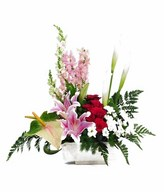 Arrangement of Mixed flower in Ceramic vase