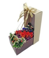 12 Red Roses & Other Flowers in Box
