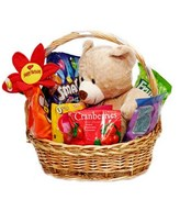 Medium Bear with Sweets in a Basket