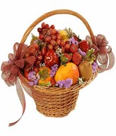 Basketful of assorted fruits