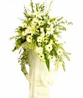 Assortment of White Flowers & Greens