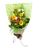 Hand bouquet of assorted flowers