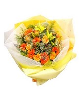 Bouquet of orange and yellow flowers