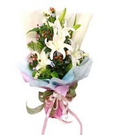 Bouquet of white lilies