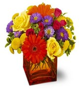 Assortment of flowers in vase