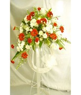 Flower arrangement of daisies, Carnations & More