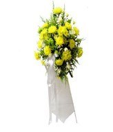 Flower arrangement of Yellow Chrysanthemums and Greens
