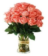 Dozen of Pink Rose Hand Bouquet