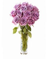 Bouquet of 12 Lilac roses