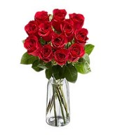 Posy of red roses